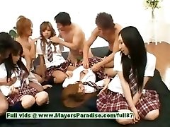 Asian V girls play with an orgy