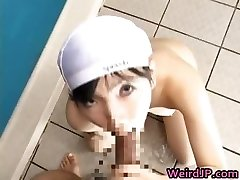 Japanese schoolgirls have swimming glasses part3