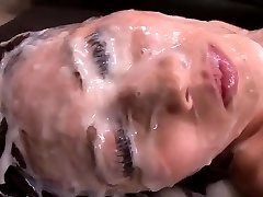 Japanese Girl - Meaty Amount Of Jism On Her Face