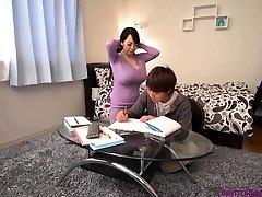 Busty asian teacher gigantic boobs