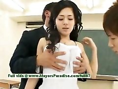 Sora Aoi innocent wondrous  japanese student is getting pulverized in the classroom