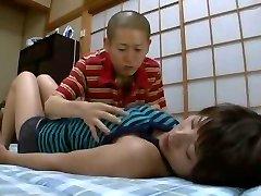 Amazing Japanese whore Azumi Harusaki in Extraordinaire Changing Room, Rubdown JAV flick