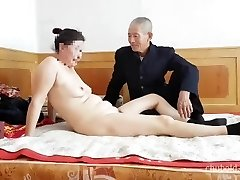 Mind-blowing Chinese grandpa giving fucking