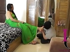 Indian Dominatrix Foot Slave