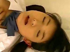 Cute Oriental Schoolgirl Fingered and Screwed