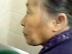 Fondling My Chinese Granny Senior Pussy