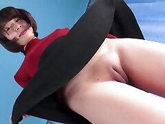 Super-fucking-hot Asian Pussy Camel-toe Closed-up