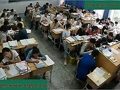 Schoolteacher shoeplay in class 5