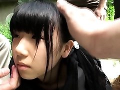 Weird japanese group play with squirting teenie