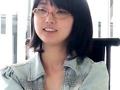 Japanese Glasses Dame Blowjob