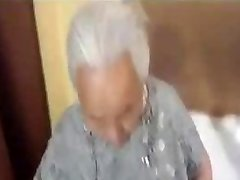 Chubby korian grannie being fucked