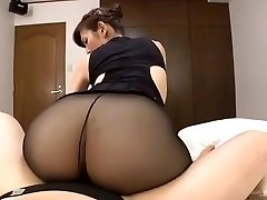 Japanese mature black pantyhose fuckfest