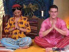 Massage Rooms Hot Thai masseur takes rigid cock in her pierc