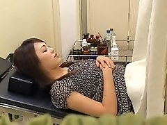 Super-cute hairy Chinese broad gets fucked by her gynecologist