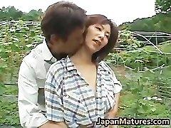 Chisato Shouda Japanese mature chick gets partThree