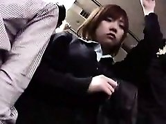 Pretty Japanese babes getting used and manhandled by naughty guys