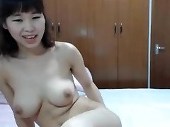 chinese big tit finger her bum