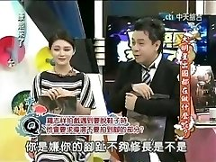 Japanese actress in a broadcast opening up toes