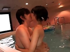 Supercute Japanese teenager Ruri pounded in the indoor pool