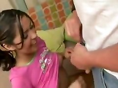 Babysitter fucks dad while mom is at work