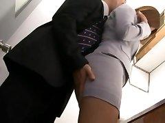 Haruki Sato gets ravaged in her husband�s office