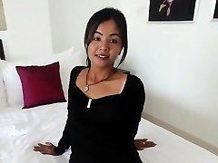 Small Thai woman barebacked by monger
