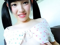 Sexy Jav Teenager Moe Goto Teases Taking Her Panties Off