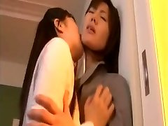 Japanese lesbian schoolgirl and MILF lecturer