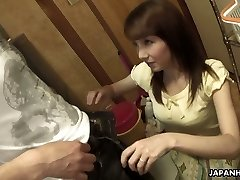 Japanese Cougar Chika Sasaki is always on her knees and eager to please