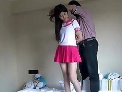 Japanese Schoolgirl Tied Up