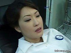 Costume Play Porn: Asians Nurses Cosplay Japanese MILF Nurse Pulverized Doctors Office part 1