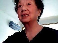 Japanese granny at webcam