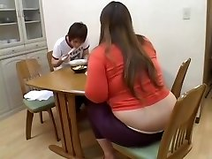 Fat Japanese broad enjoys dicking