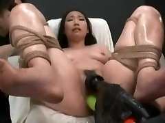Asian Made To Climax With Power Tools
