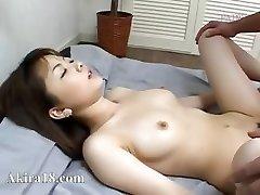 Japanese guy licking super hairy vagina