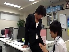 Office dame masturbate in office with co-employee