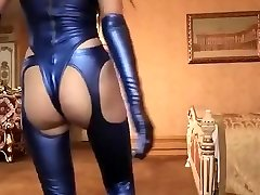 Horny first-timer Latex, Fetish xxx scene