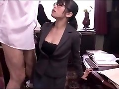 Japanese office chick blowjob service