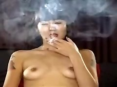 Exotic homemade Small Tits, Smoking pornography scene