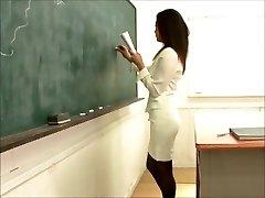 sexy japanese teacher smashing student