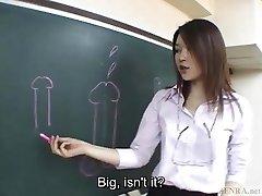 Subtitled Asian Akira Watase classroom oral pleasure lecture