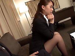 Splendid Japanese girl Yui Oba in Crazy fingering, stockings JAV video