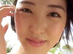 Japanese college girl teasing in swimwear