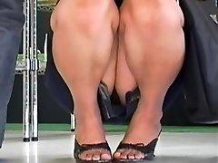 Super Hot up skirt compilation of careless Asian bunnies