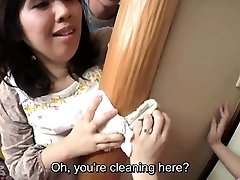 Subtitled Japanese risky hook-up with sensual mother in law
