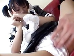 Yuki Hoshino, Asian maid, enjoys fucky-fucky with the tormentor