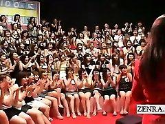 Subtitled CFNM Japanese massive hj oral event
