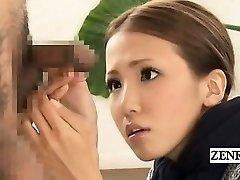 Subtitled CFNM Japanese bizarre gang pipe inspection