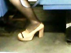 High Heels Stockings Asian Milf
