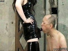Japanese Female Dom Towa beat the whip to the slav